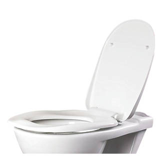 Image of AKW Soft-Close Ergonomic Toilet Seat Urea Formaldehyde White