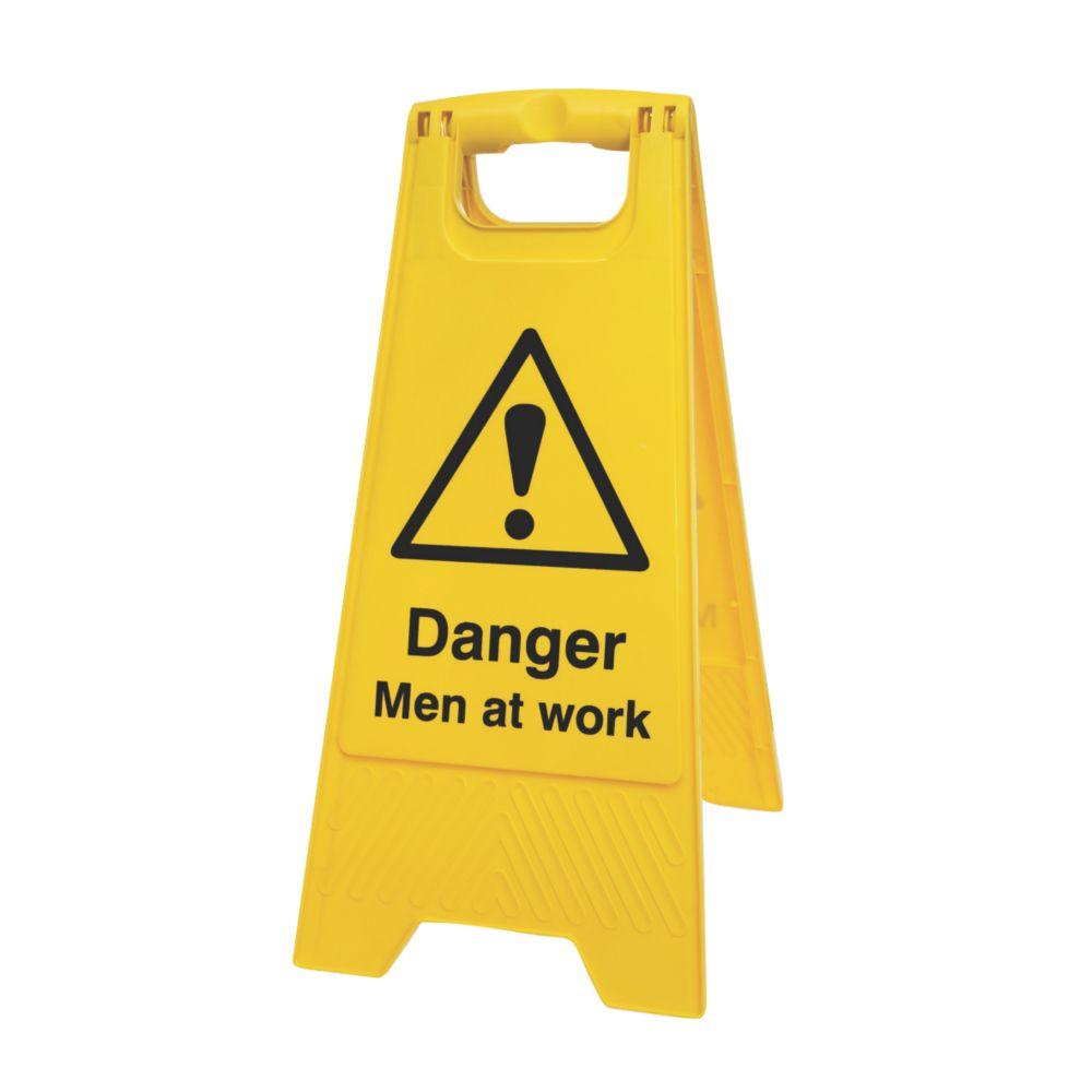 Image of Danger Men at Work A-Frame Safety Sign 600 x 290mm