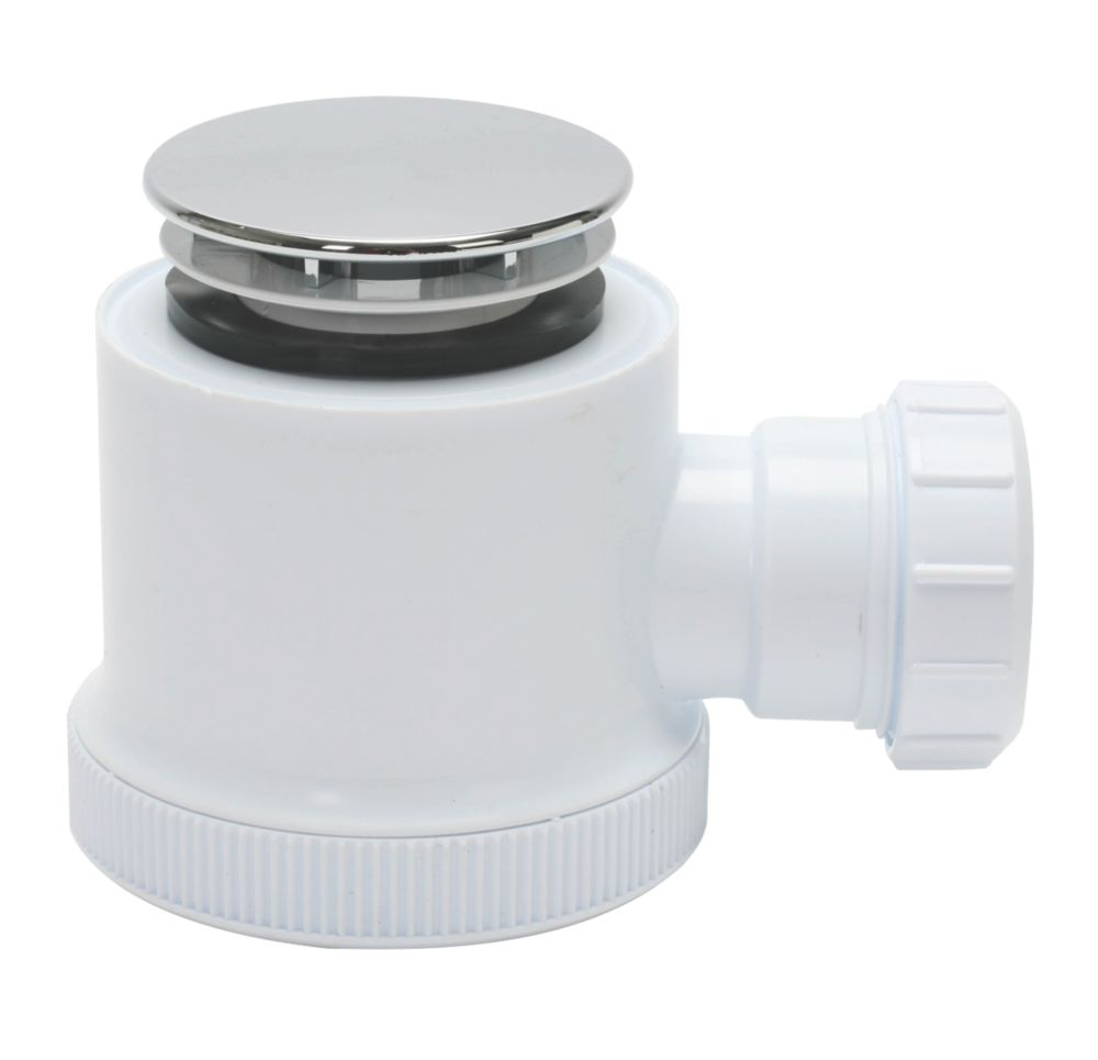 Image of Opella Shower Waste White / Chrome 70mm