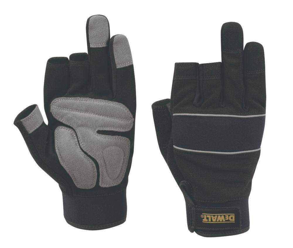 Image of DeWalt Pro Performance 3 Finger Framers Gloves Black / Grey Large