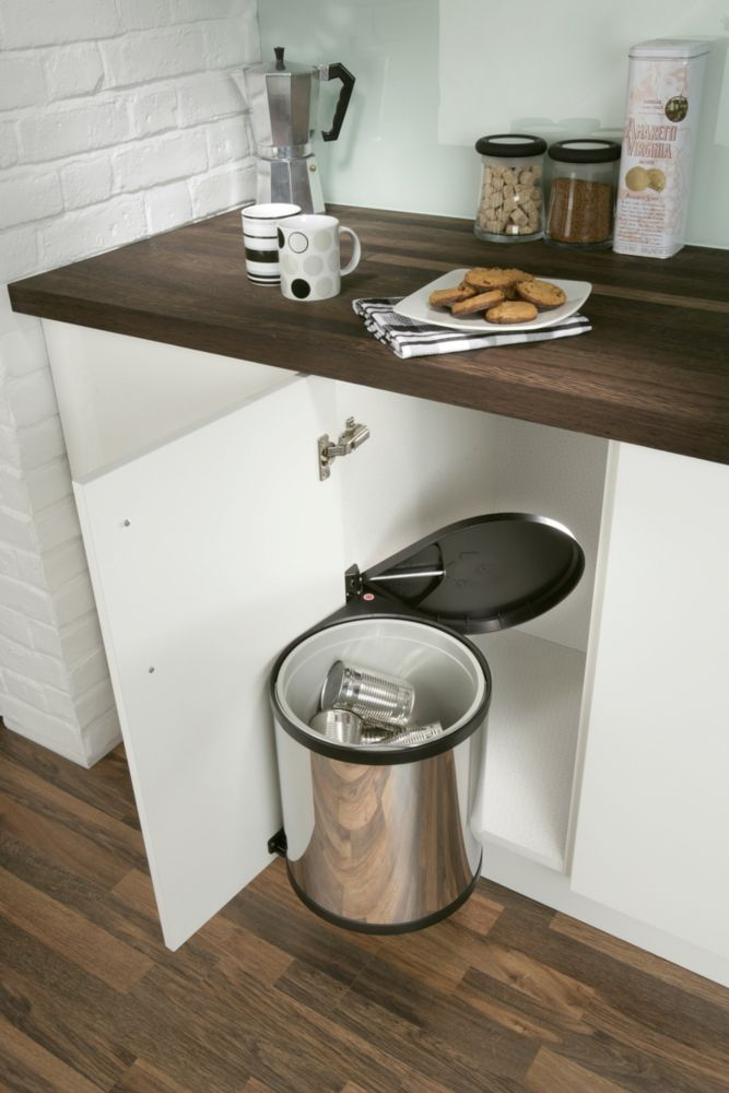 Image of Hafele Waste Bin Stainless Steel 15Ltr