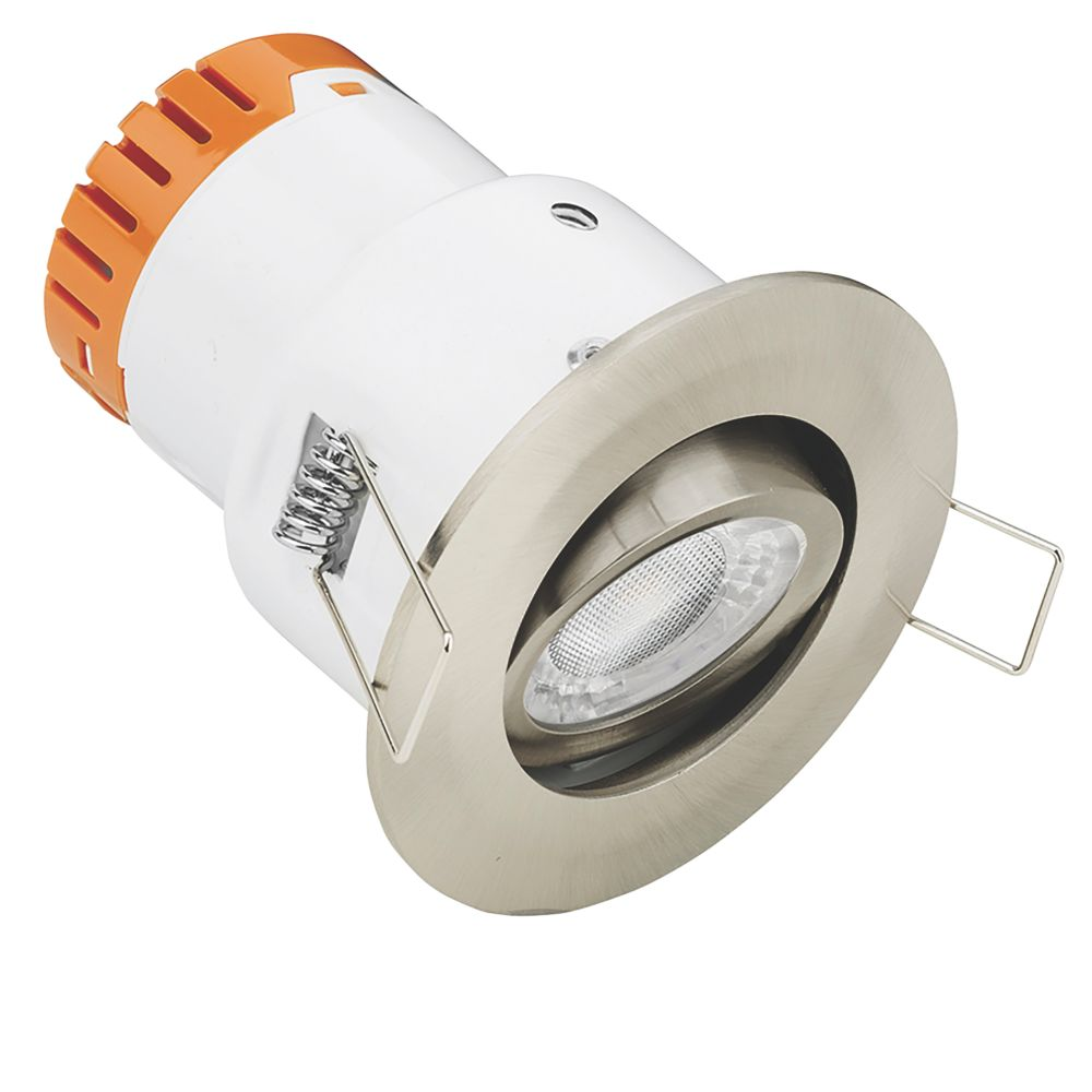 Image of Enlite E5 Adjustable Fire Rated LED Downlight Satin Nickel 440lm 4.5W 220-240V