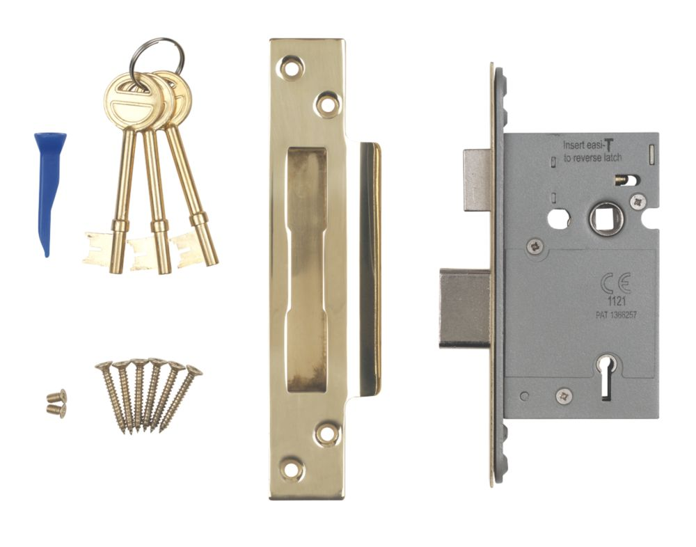 """Image of Smith & Locke BS 5-Lever Mortice Sashlock Stainless Brass 2"""" / 64mm"""