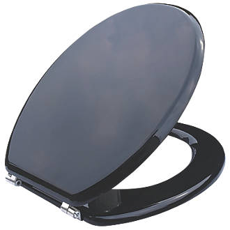 Cooke and Lewis Standard Closing Toilet Seat Moulded Wood Black   Toilet  Seats   Screwfix comCooke and Lewis Standard Closing Toilet Seat Moulded Wood Black  . Wooden Black Toilet Seat. Home Design Ideas