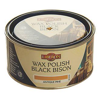 Image of Liberon Black Bison Paste Wax Satin to gloss Antique Pine 500ml