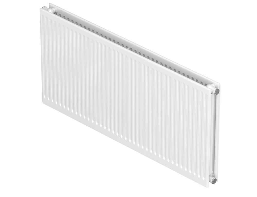 Image of Barlo Round-Top Type 21 Double-Panel Plus Convector Radiator Traffic White 600 x 1200mm