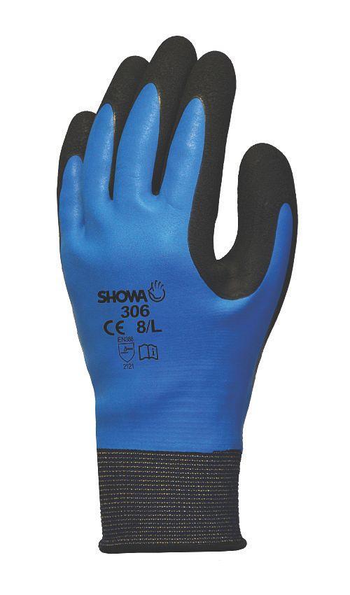 Image of Showa 306 Gloves Blue/Black Large