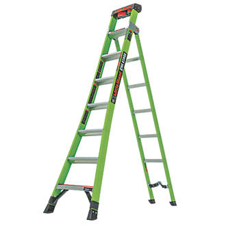 Image of Little Giant 2-Section 3-Way Fibreglass & Aluminium 3-in-1 Extension Ladder 4.2m