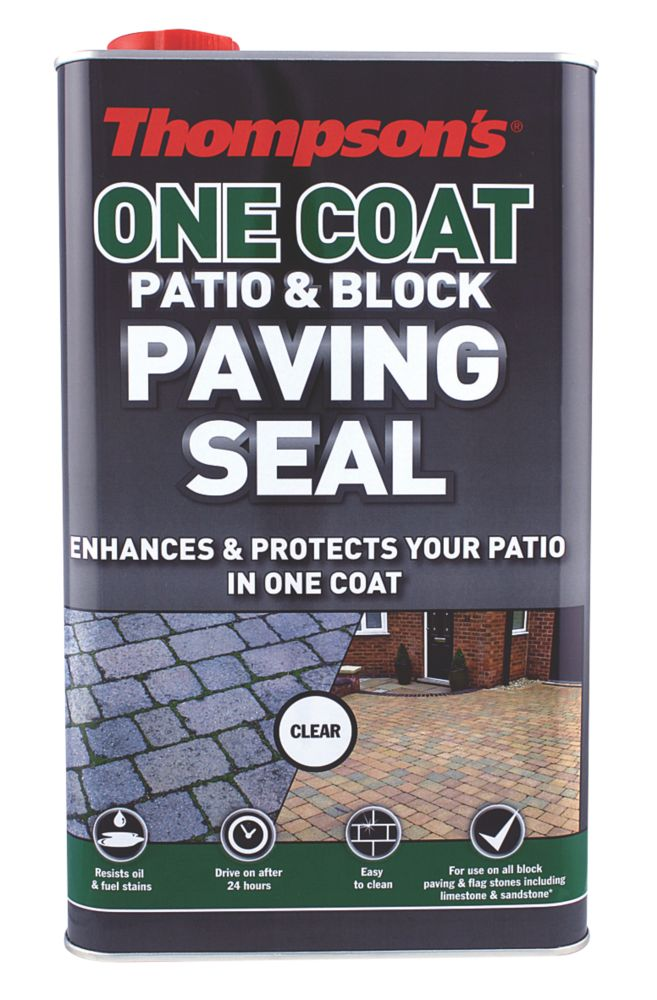 Image of Thompsons One-Coat Patio & Block Paving Seal Clear 5Ltr