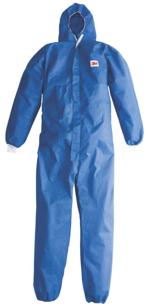 """Image of 3M Disposable Coveralls Blue X Large 48-50"""" Chest 31"""" L"""