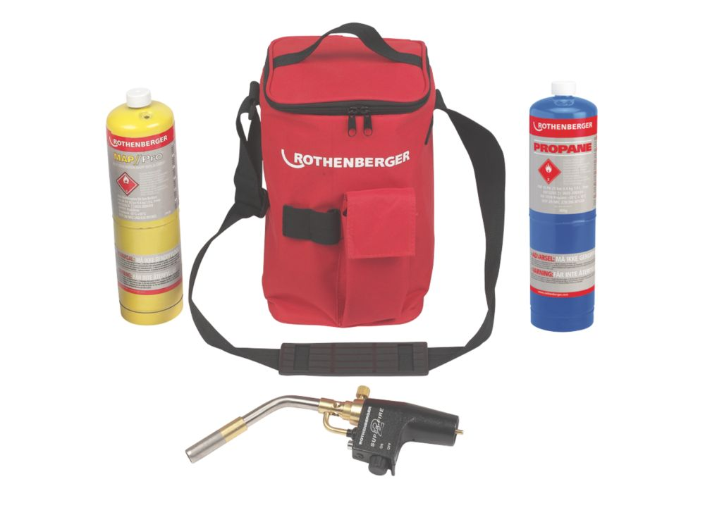 Image of Rothenberger Hot Bag with Super Fire, Propane & Map Pro Gas