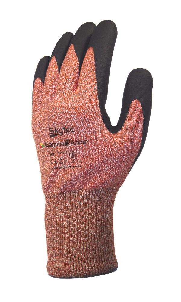 Image of Skytec Gamma 3 Gamma 3 Nitrile Foam Palm Gloves Amber Large