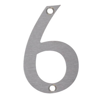 Image of Fab & Fix Door Numeral 6, 9 Satin Stainless Steel 78mm