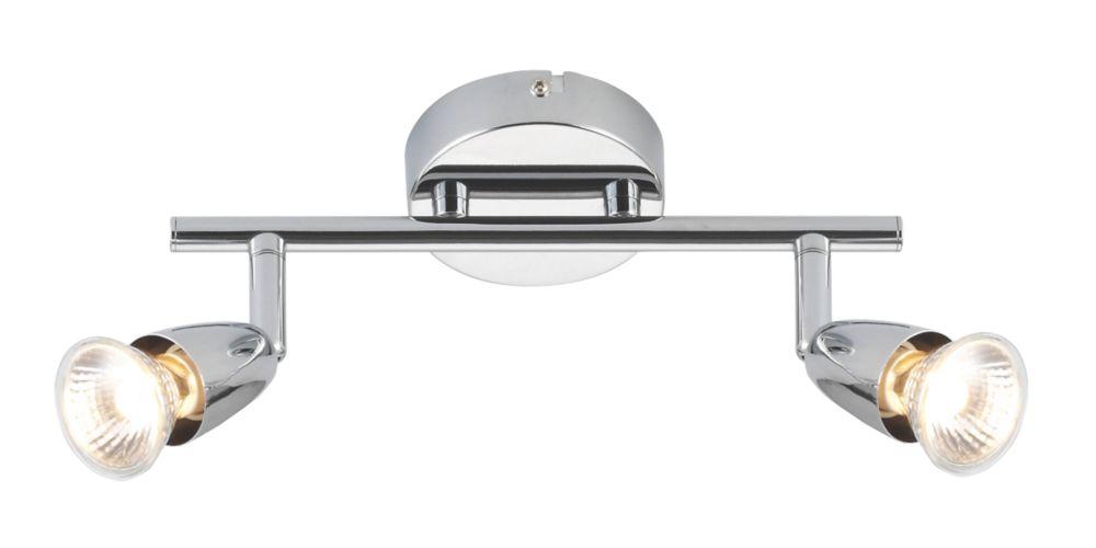 Image of Saxby Amalfi 2-Light Spotlight Bar Chrome