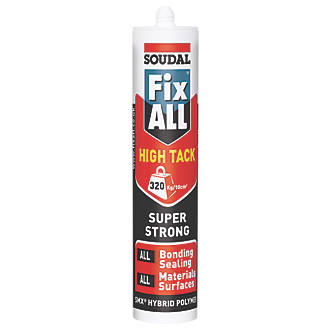 Image of Soudal Fix All High Tack Adhesive & Sealant White 290ml