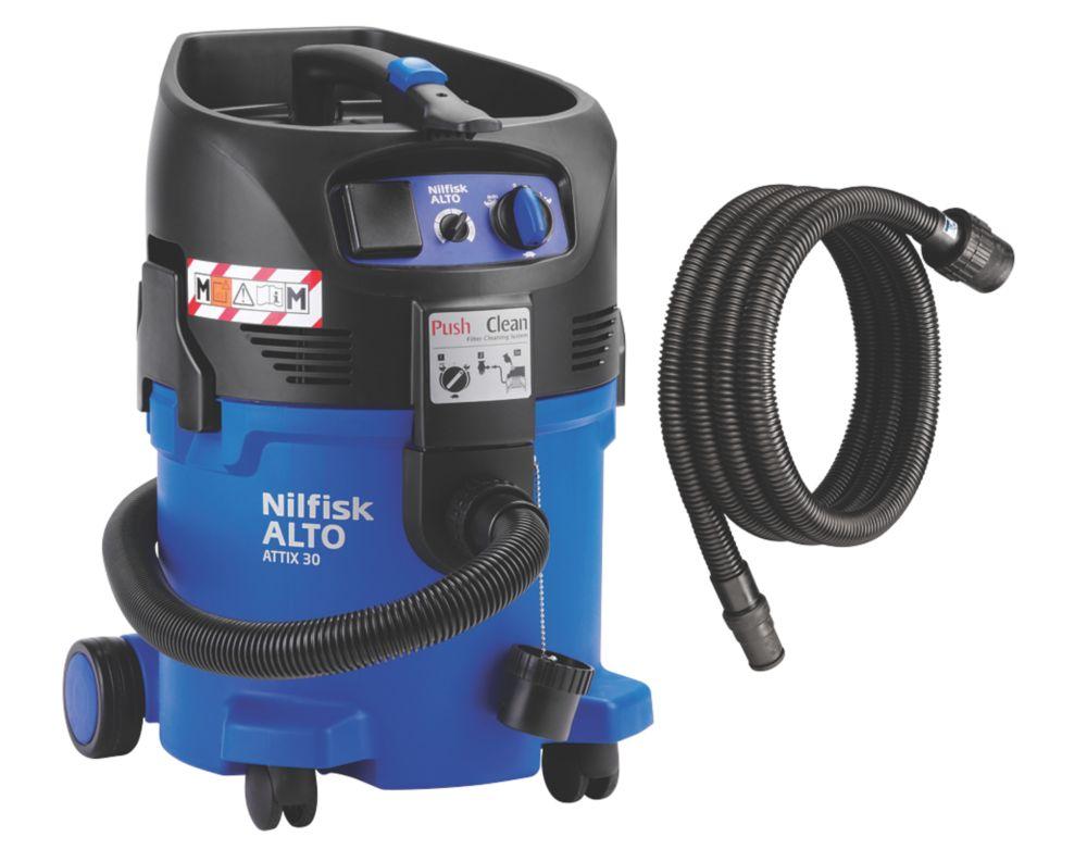 Image of Nilfisk ATTIX 30 -2M 1000W 30Ltr Wet & Dry Vacuum Dust Extractor 110V