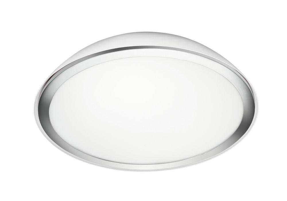 Bathroom Lights Screwfix philips cool led bathroom ceiling light white / chrome 800lm 26w