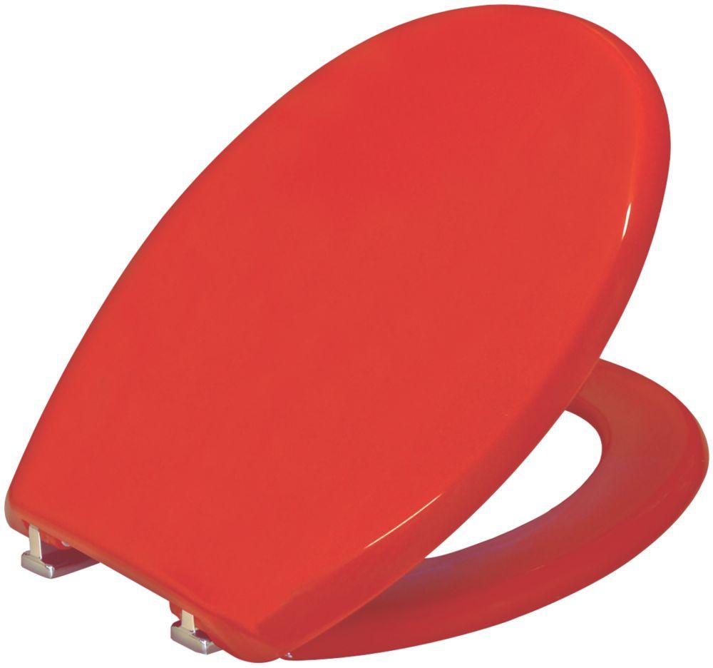 Image of Carrara & Matta Atlantic Spa Standard Closing Toilet Seat Thermoplastic Red