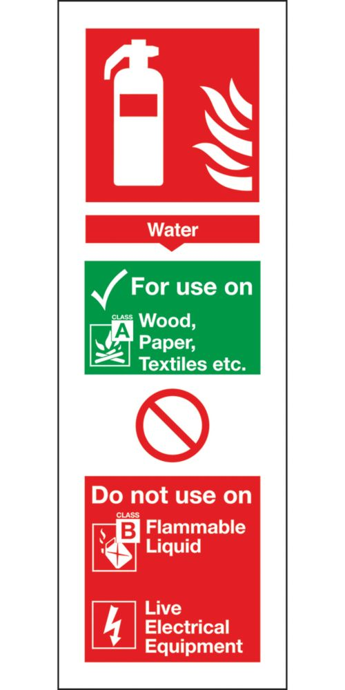 Image of Water Extinguisher ID Signs 280 x 90mm 100 Pack