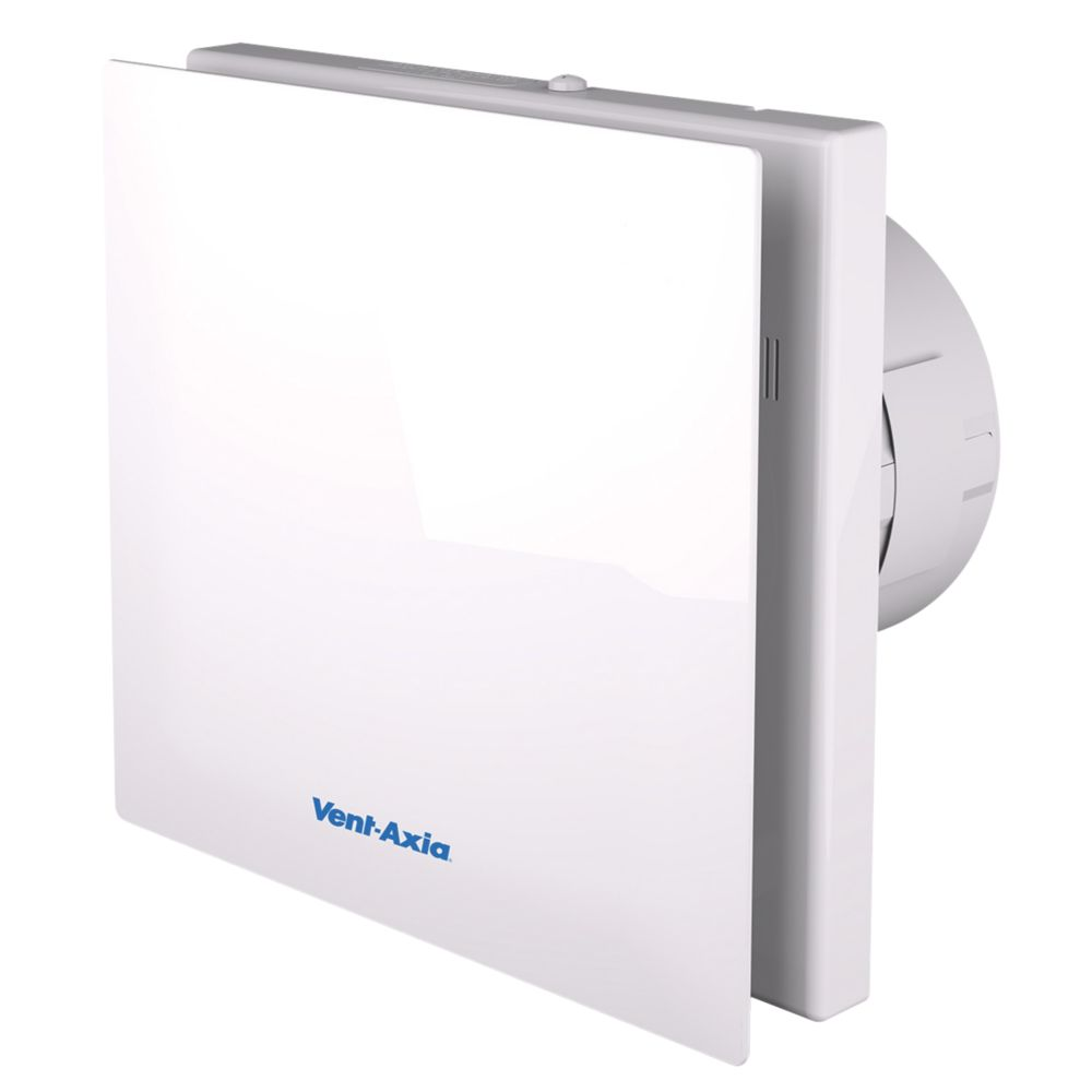 Bathroom Designer Extractor Fans vent-axia vasf100t 4.3 / 6.8w silent axial bathroom timer