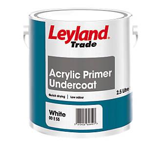 Image of Leyland Trade Acrylic Primer Undercoat 2.5Ltr