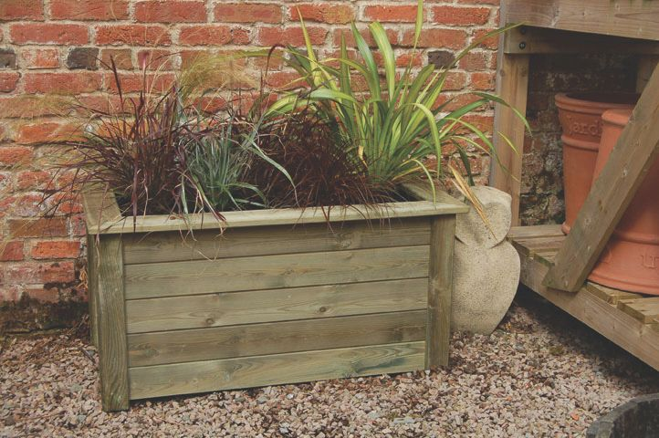 Image of Forest Bamburgh Planter Natural 1 x 0.5 x 0.5m