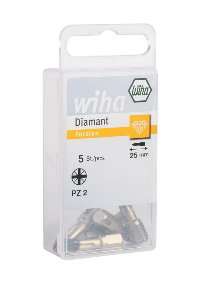Image of Wiha Diamond PZ2 Screwdriver Bit Box PZ2 x 25mm 5 Pack