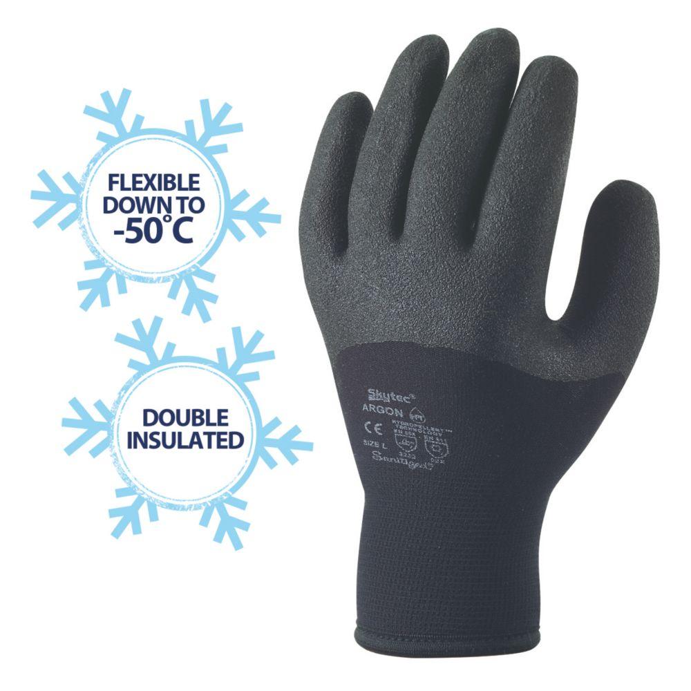 Image of Skytec Argon Thermal Argon Thermal Grip Gloves Black X Large