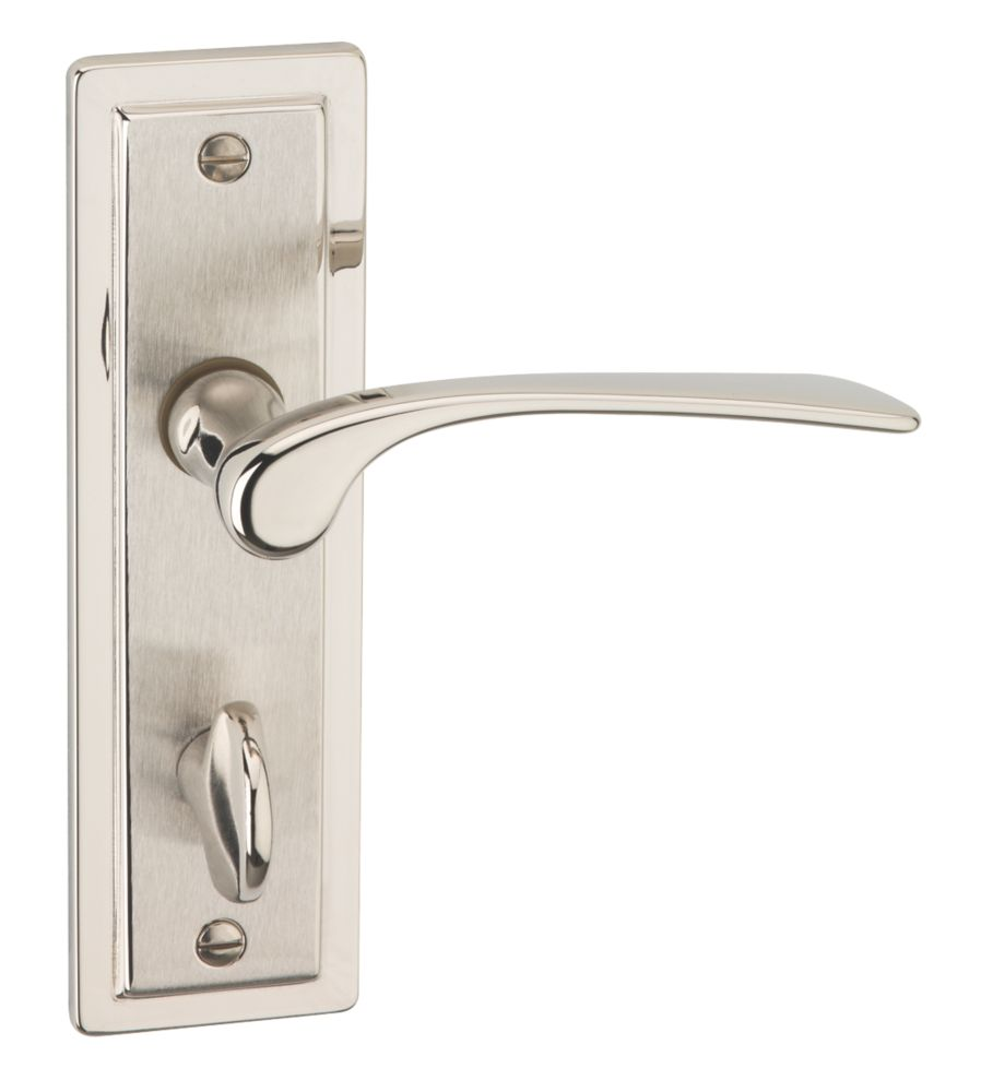 Image of Urfic Como WC Lever on Backplate Handles Pair Dual
