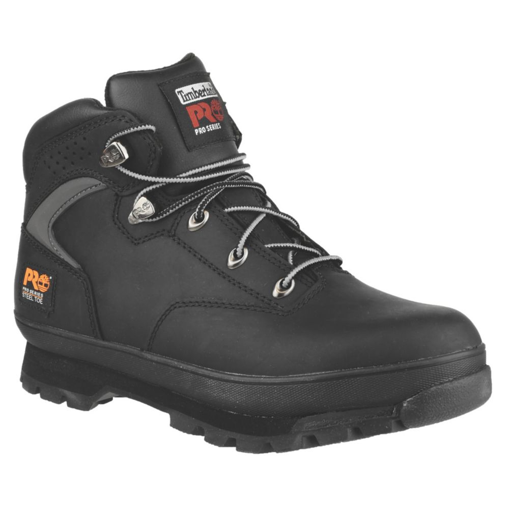 Image of Timberland Pro Euro Hiker Safety Boots Black Size 10