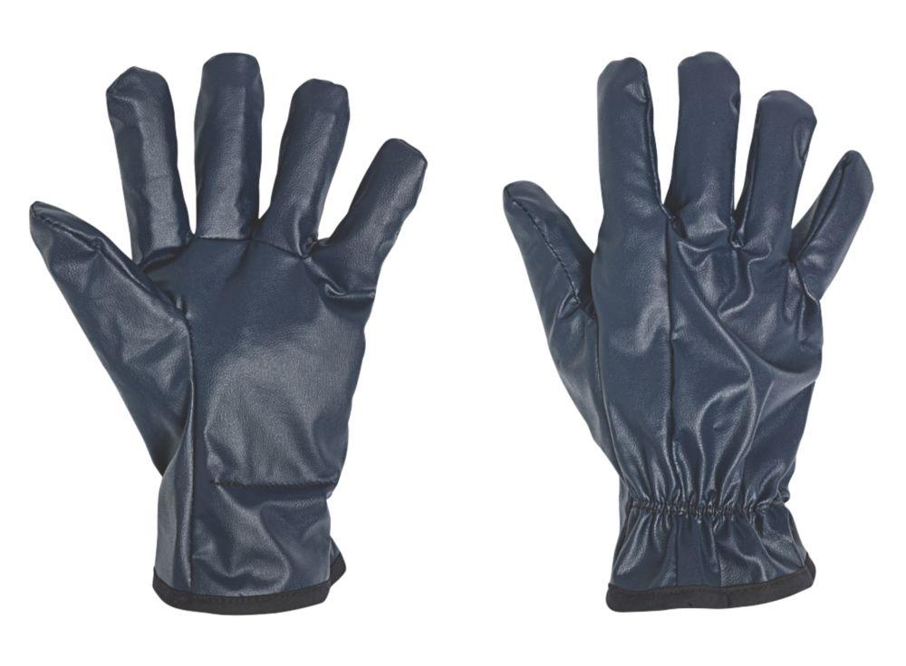 Image of Impacto BGNITRILE Nitrile-Coated Air Anti-Vibration Gloves Blue Large
