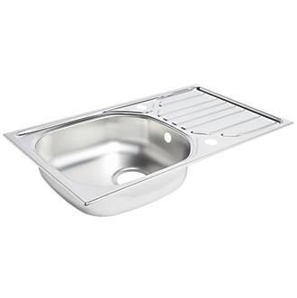 Kitchen Sink & Drainer Stainless Steel 1 Bowl 760 x 430mm | Sinks ...