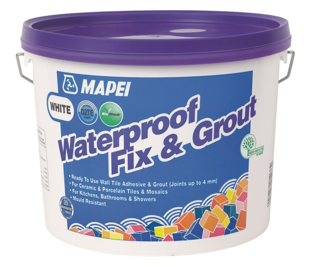 Image of Mapei Waterproof Fix & Grout White 7.5kg