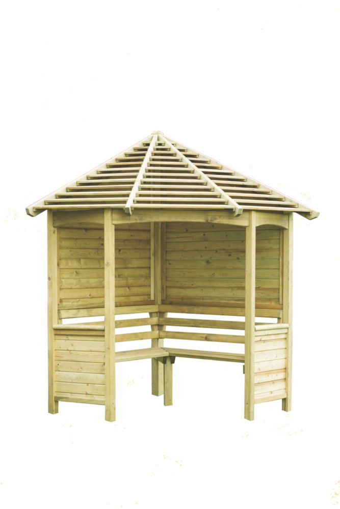 Image of Forest Venetian Arbour 2.33 x 1.60 x 2.50m Natural Timber