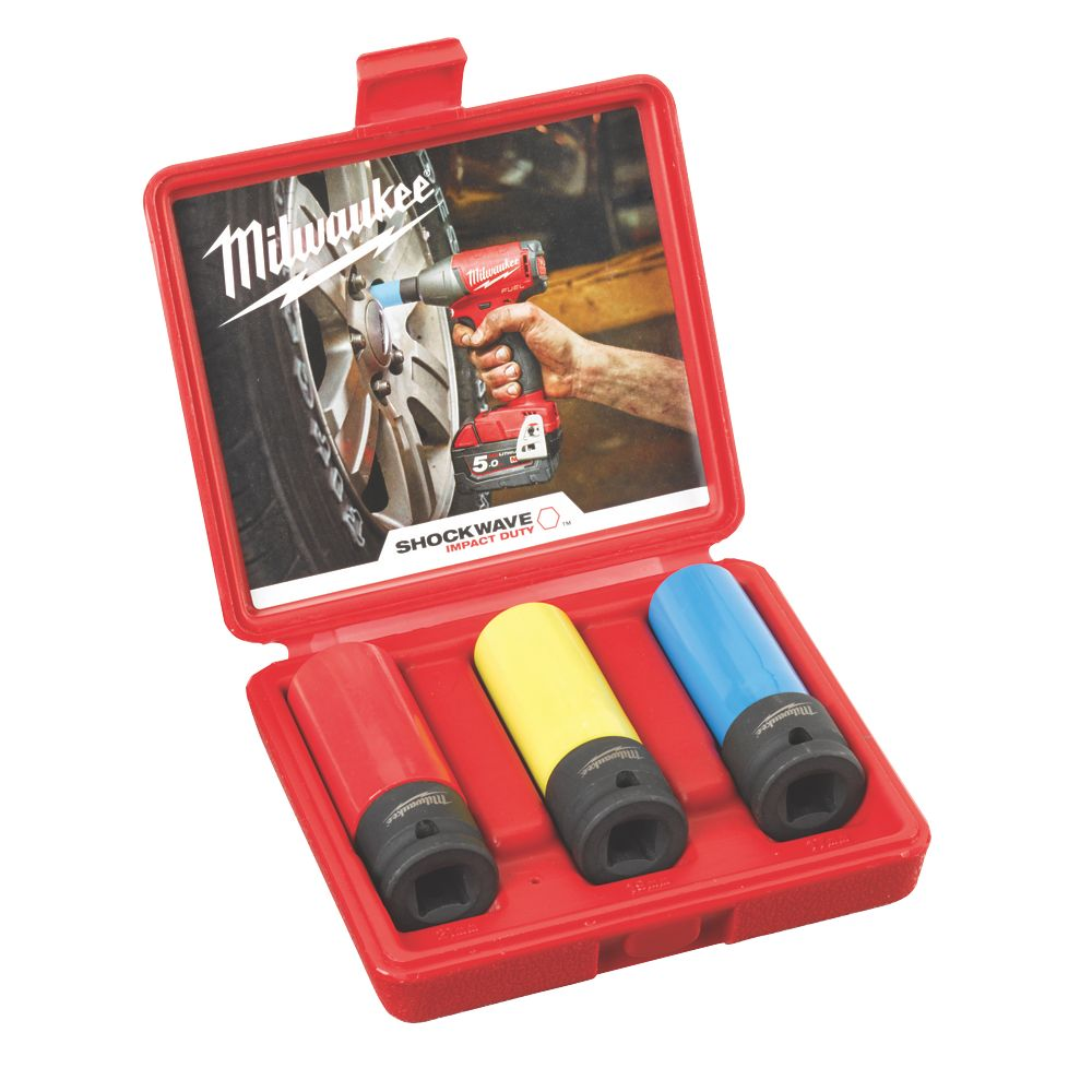 "Image of Milwaukee 4932451568 1/2"" Automotive Socket Set 3 Pcs"