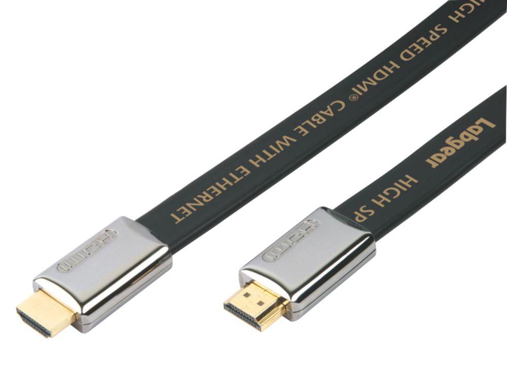 Image of Labgear HDMI Flat Lead 19-Pin Gold 3m