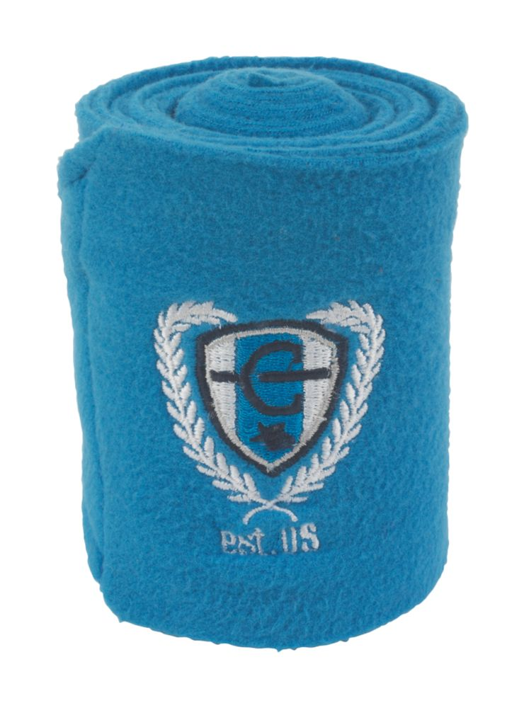 Image of Covalliero Fleece Horse Leg Bandages Royal Blue 120mm x 3m 4 Pack
