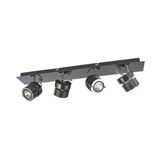 Image of Inlight 4-Light Bar Spotlight Black Chrome 240V