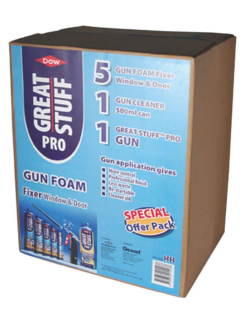 Image of Dow Great Stuff Pro Gun Foam Window & Door Fixer Kit 750ml
