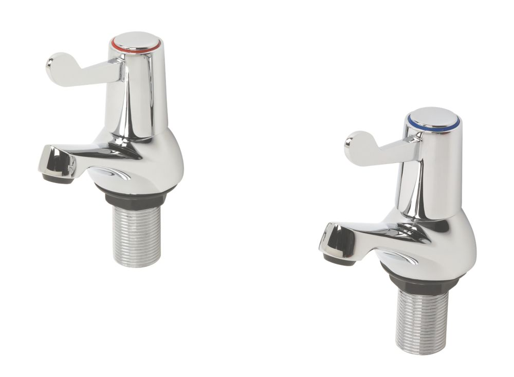 Image of H & C ¼ Turn Bath Taps Pair