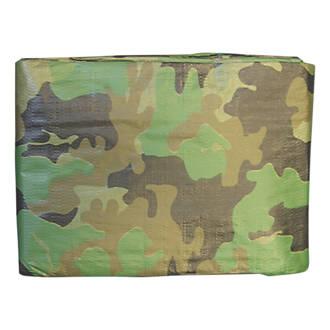 Image of NDC Polythenes Heavy Duty Camouflage Tarpaulin Green/ Brown 3 x 4m