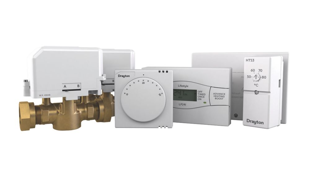 Image of Drayton PBTE58 Twinzone Central Heating Control Pack