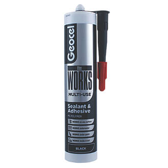 Image of Geocel The Works Sealant & Adhesive Black 290ml