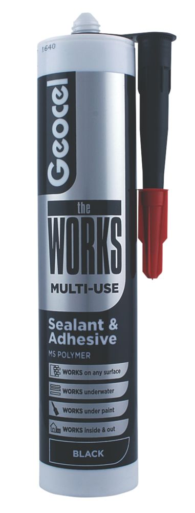 Image of Geocel The Works Sealant & Adhesive Black 290ml
