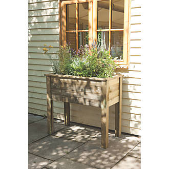 Image of Forest Rectangular Planter Table 1000 x 500 x 870mm