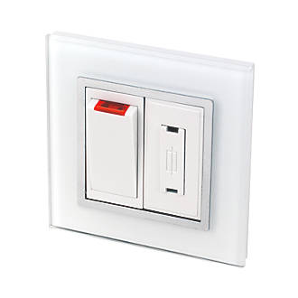 Image of Retrotouch Crystal 13A Switched Fused Spur with Neon White Glass with White Inserts