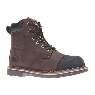 Image of Dickies Crawford Safety Boots Brown Size 8