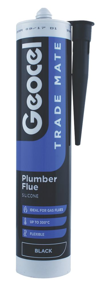 Image of Geocel Trade Mate Plumber Flue Silicone Black 310ml