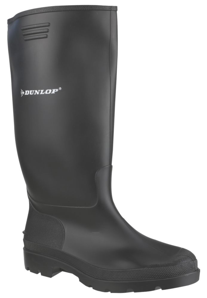 Image of Dunlop Non Safety Footwear Pricemaster 380PP Non Safety Wellingtons Black Size 10