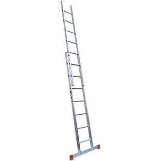 Image of Lyte 2-Section Aluminium Extension Ladders 3.7m